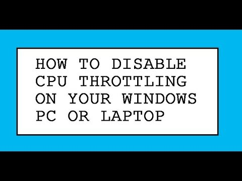 How To Disable CPU Throttling On Your Windows PC Or Laptop