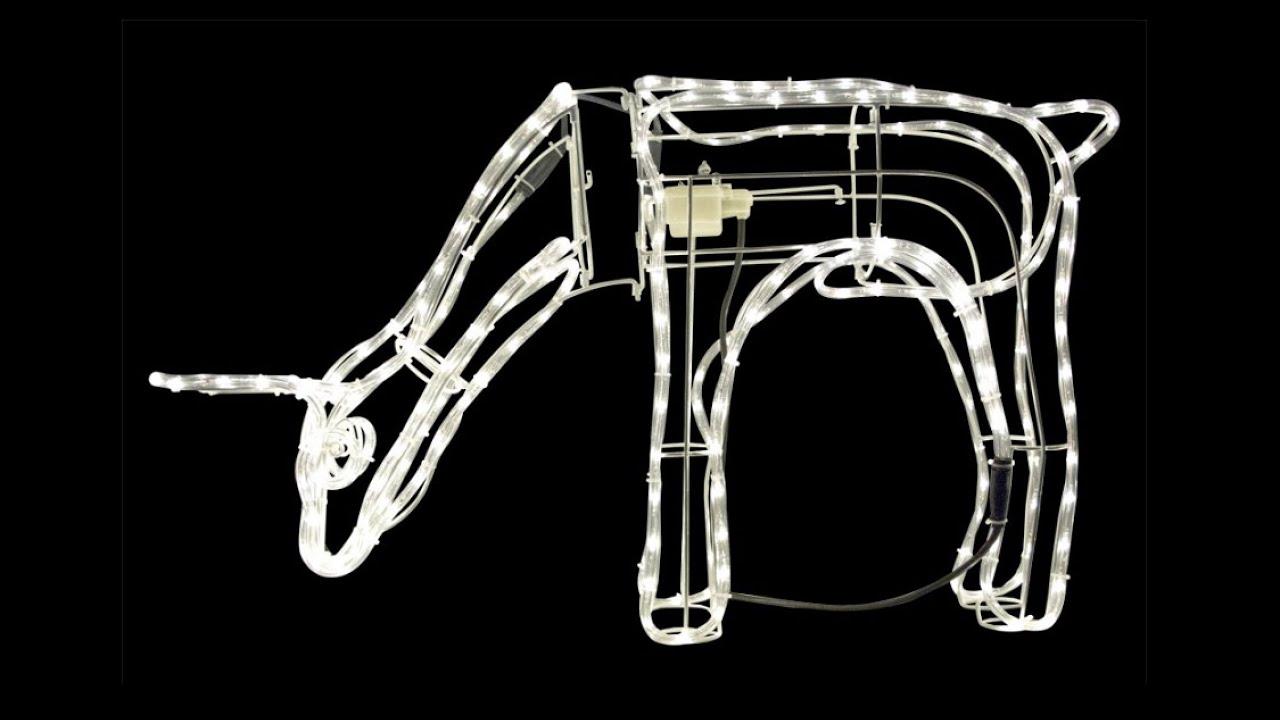 rope lights 3d warm white led large grazing doe 96cm. Black Bedroom Furniture Sets. Home Design Ideas