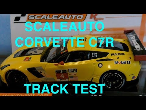 Corvette C7R GT3 Slot car by ScaleAuto:Track Test