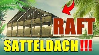 RAFT 🚣🏻 SATTELDACH BAUEN!!! 🏠 Das schönste Hausdach im Ozean 😎 NERVIGER HAI 🦈