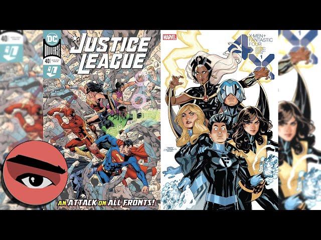 Comic Watcher's Show E065 Justice League #40 and X-Men + Fantastic Four #1