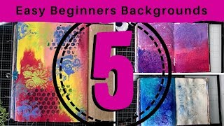 5 Easy Art Journaling Backgrounds for Beginners