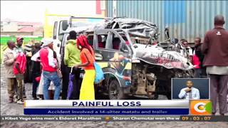 13 killed in 2 accidents in Machakos County