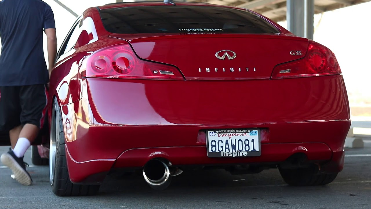 g35 with isr single exit exhaust youtube