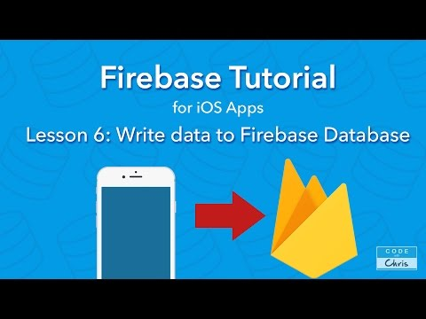 Firebase Tutorial for iOS  - Ep 6 - Write Data to Firebase Database