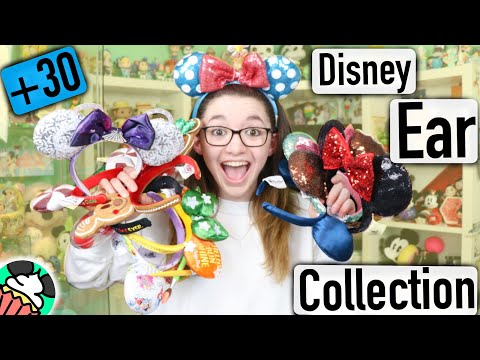 HUGE Minnie Mouse Ear Headbands & Mickey Ear Hats Collection! Rare & Limited Edition Disney Ears!