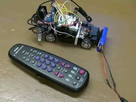 arduino tv ir remote controlled car youtube. Black Bedroom Furniture Sets. Home Design Ideas