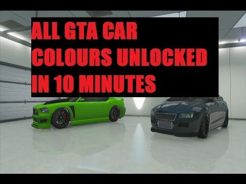 GTA V- online -How to unlock all colours in 10 mins - YouTube
