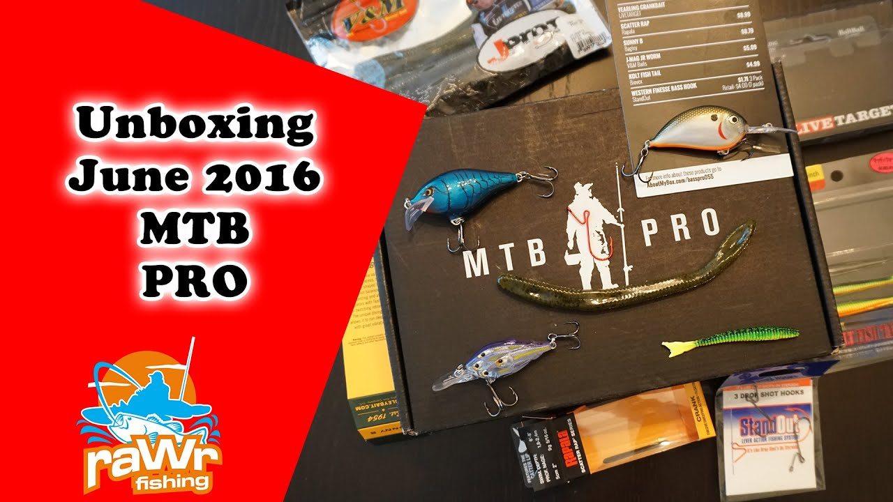 Mystery tackle box pro mtb pro unboxing june 2016 youtube for Mystery fishing box