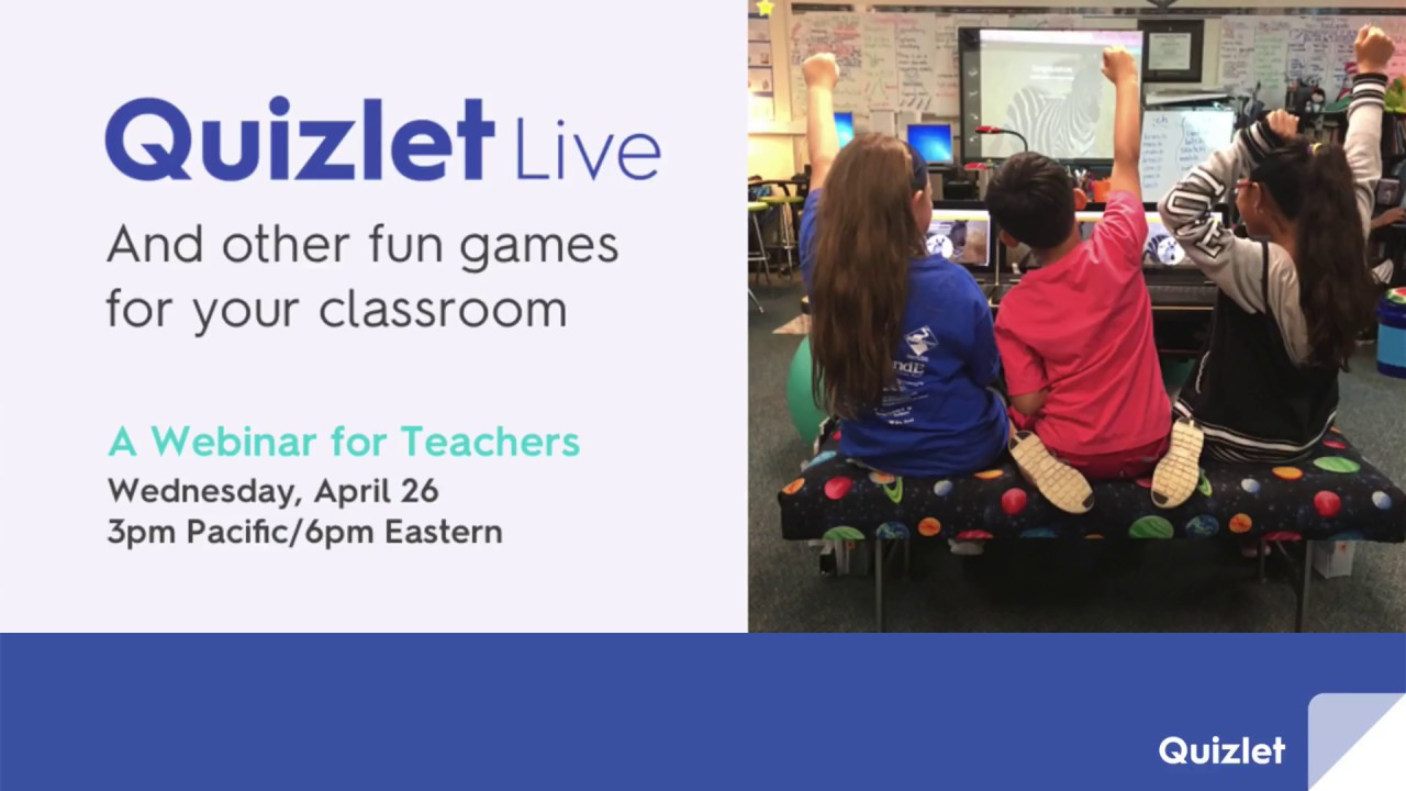 webinar quizlet live and other fun games for your classroom youtube