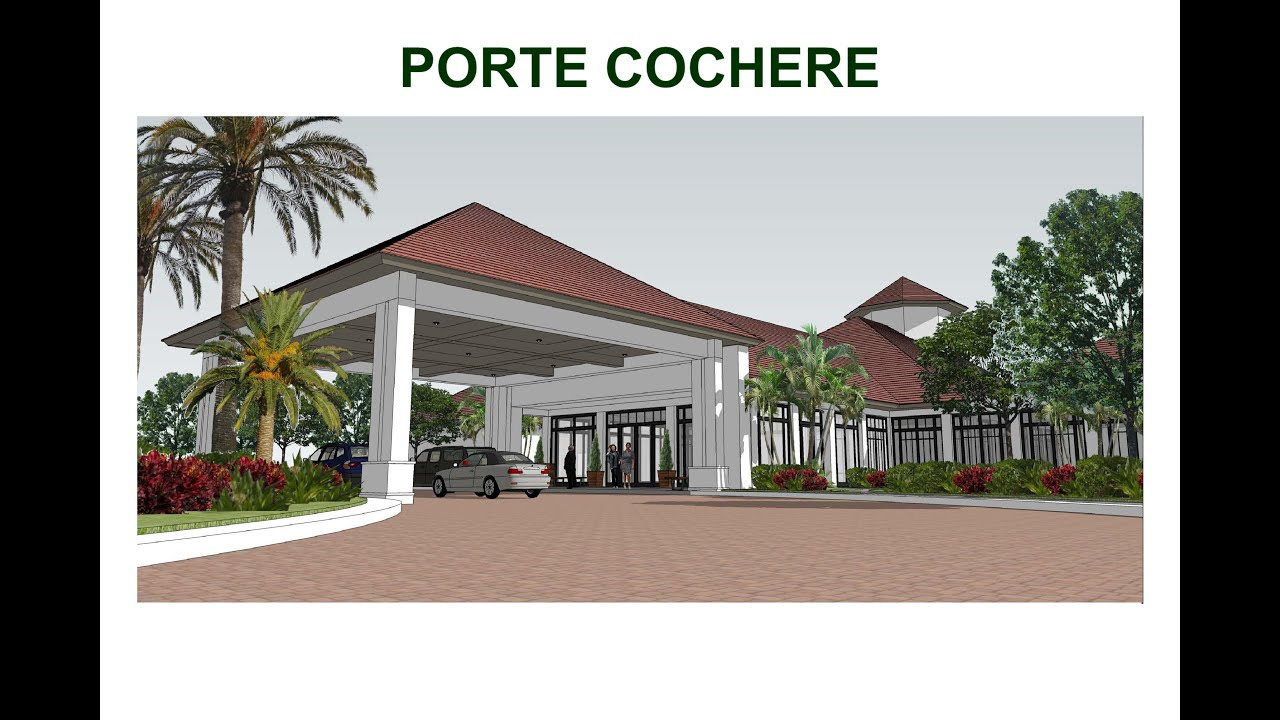 Proposed porte cochere youtube for What is a porte cochere