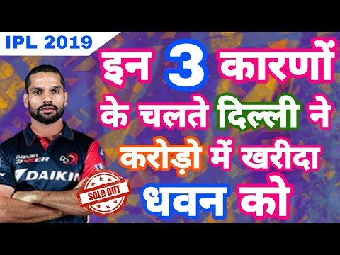 IPL 2019 - Dhawan To Play For Delhi Daredevils , Watch The 3 Reasons Behind That Crorepati Deal