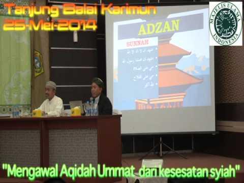 Dialog Terbuka Sunni - Syiah : Mengawal Akidah Ummat dari Aqidah Syiah (1)