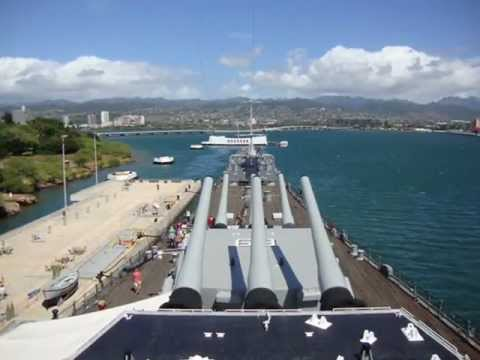 USS Missouri Memorial at Pearl Harbor, Hawaii on October 15, 2011
