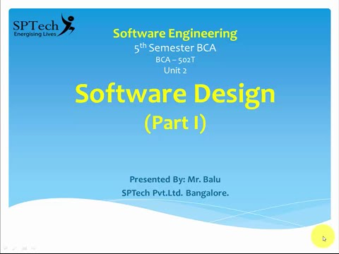 Introduction to Software Engineering - Software Design Part 1