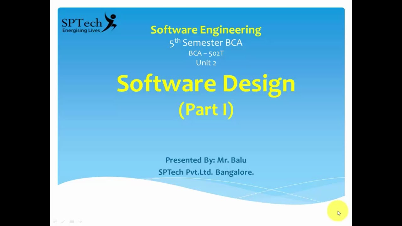 Introduction To Software Engineering Software Design Part 1 Youtube