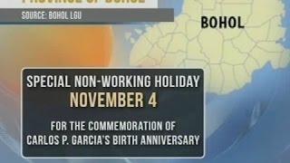 Special non-working holiday ngayon sa Bohol para gunitain ang kaarawan ni ex-Pres. Carlos P. Garcia