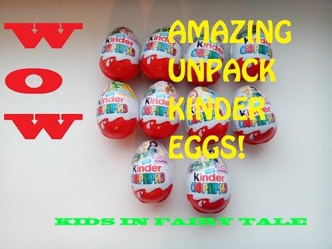 10 Kinder Surprise eggs. Unpack. 10 яиц киндер сюрприз - феи. Распаковка.