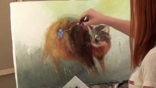 Полина Сахарова. Видеоурок. Кошка в одуванчиках.avi