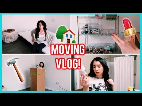 MOVING VLOG #2! HomeGoods Haul, New Makeup Storage, Helix Mattress Unboxing, Bathroom Organization!