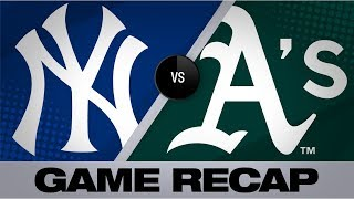 Olson, Canha, Bailey pace A's in 6-2 victory | Yankees-A's Game Highlights 8/20/19