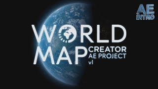 World Map Animation After Effects