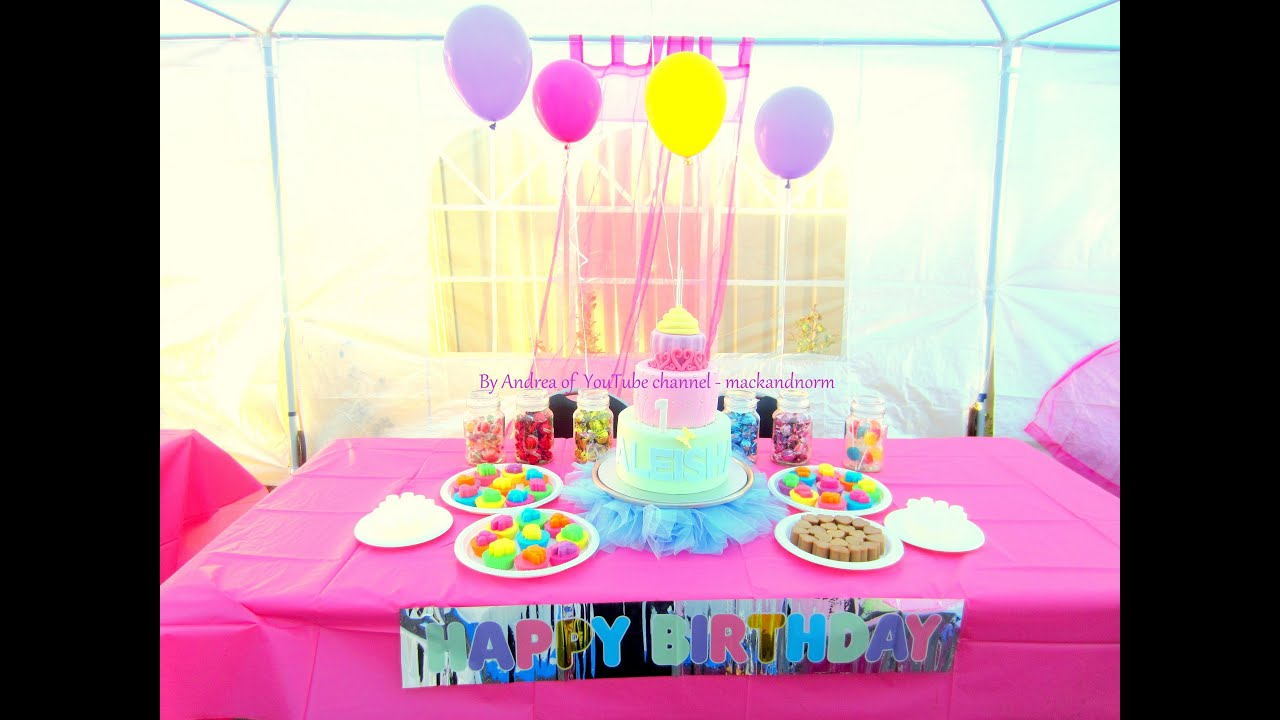 Aleishas 1st Birthday Cake Display Table Youtube