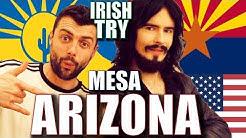 Irish People Taste Test 'MESA ARIZONA' + USA Merch UnBoxing!!