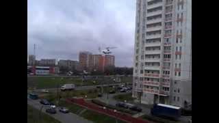 Вертолет МИ-26 садится в Южном Бутово (Щербинка)