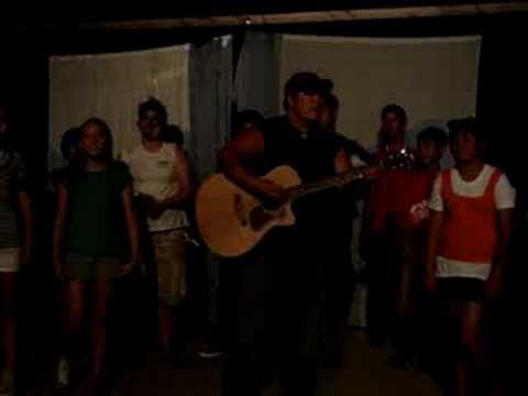 Singing the Banana Slug Song at Camp Stevens