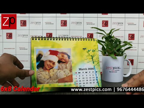 Personalized Photo Picture Calendar Online | Zestpics