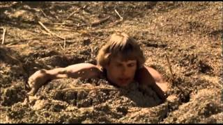 The beastmaster,  1982 film.  Quicksand scene.
