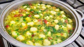 Суп с сырными клёцками Очень вкусный Soup recipe