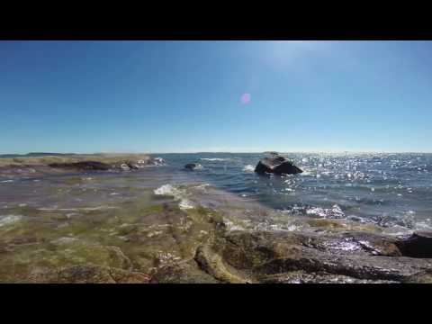 Relaxing 52 min. gentle Baltic Sea waves with HD video