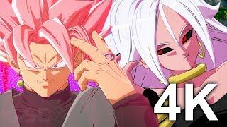 DRAGON BALL FighterZ | GOKU BLACK, Goku Blue & Vegeta Blue VS ANDROID 21, Hit & Adult Gohan GAMEPLAY