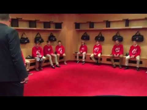 new style 5bfa8 bbf50 Colin White, Bruce Driver Address the New Jersey Devils PeeWee Team Heading  to Quebec