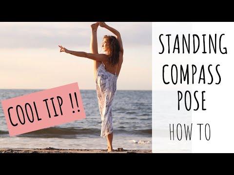 Standing Compass Pose or Sundial Pose   step by step tutorial and tips (Parivrtta Surya Yantrasana)
