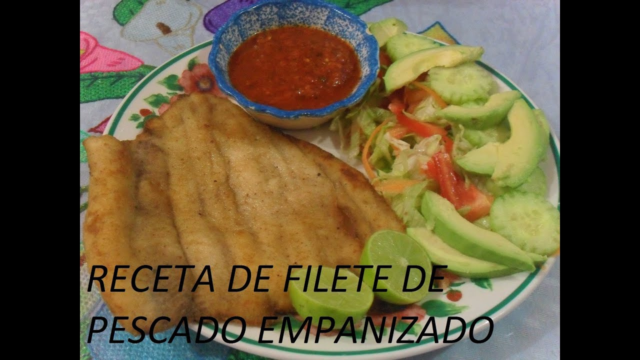 Receta de filete de pescado empanizado los angeles for Como cocinar pescado