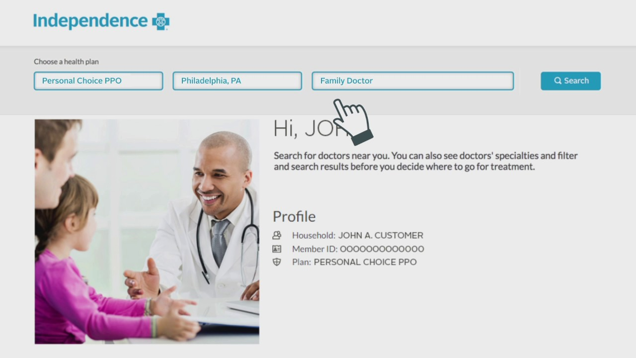 How to find a doctor, hospital, or health care provider in the Independence  Blue Cross network