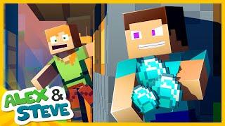 STEVE STOLE HER DIAMONDS!! Minecraft Animation | The Minecraft Life of Alex and Steve
