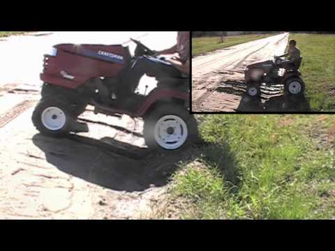 Husqvarna / Craftsman riding mower rear tire upgrade | Doovi