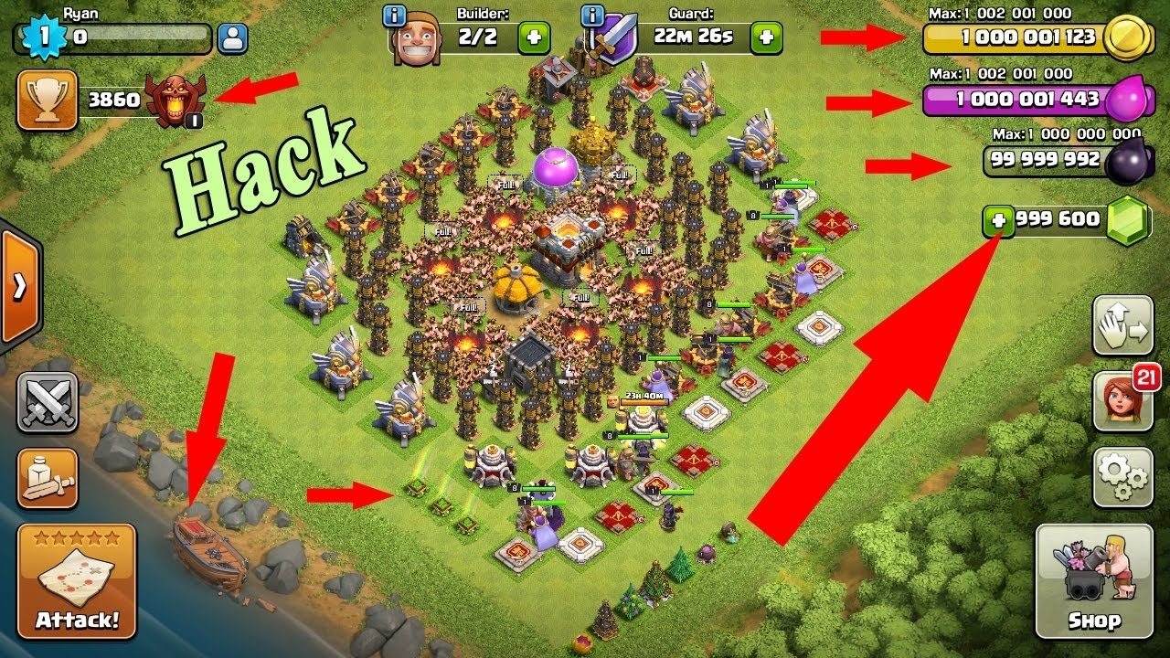 Download Clash Of Clans Hacked Game Mark Amber