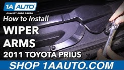 How to Install Windshield Wiper Arms 10-15 Toyota Prius