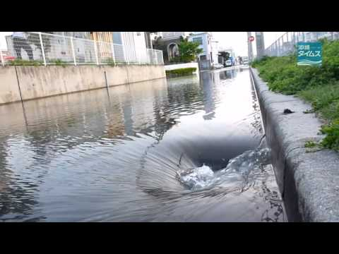 チリ大地震で沖縄市に冠水