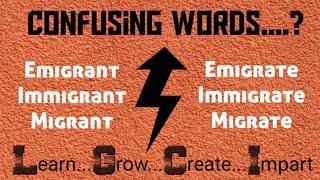 Immigrant Emigrant Migrant