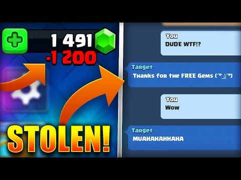 WTF! MY CLAN MATE STOLE MY GEMS in Clash Royale!