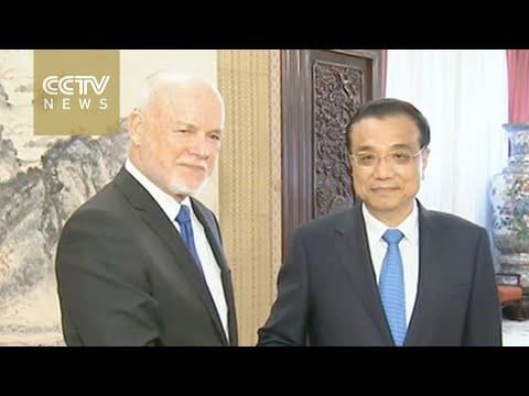 Premier Li meets UNGA president-elect Peter Thomson