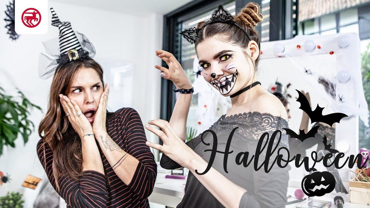 Halloween Schminke Bei Rossmann.Halloween Make Over Spooky Cat Schritt Fur Schritt Zum Gruseligen Halloween Look Youtube