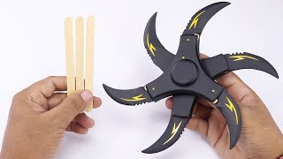 Cool Six Blade Shuriken Popsicle Stick Craft