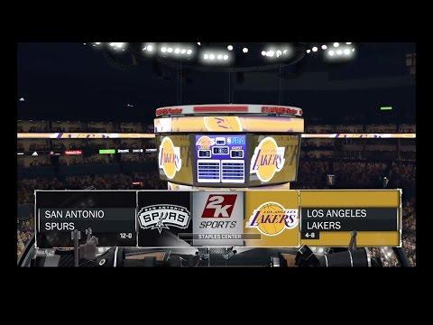 NBA 2K17: San Antonio Spurs vs Los Angeles Lakers